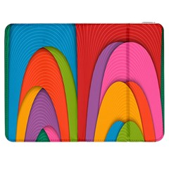 Modern Abstract Colorful Stripes Wallpaper Background Samsung Galaxy Tab 7  P1000 Flip Case
