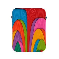 Modern Abstract Colorful Stripes Wallpaper Background Apple Ipad 2/3/4 Protective Soft Cases