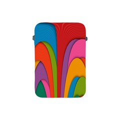 Modern Abstract Colorful Stripes Wallpaper Background Apple Ipad Mini Protective Soft Cases