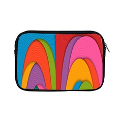 Modern Abstract Colorful Stripes Wallpaper Background Apple iPad Mini Zipper Cases