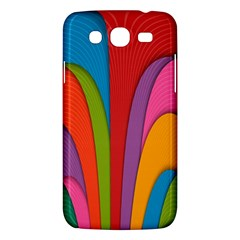 Modern Abstract Colorful Stripes Wallpaper Background Samsung Galaxy Mega 5 8 I9152 Hardshell Case