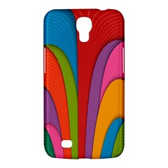 Modern Abstract Colorful Stripes Wallpaper Background Samsung Galaxy Mega 6 3  I9200 Hardshell Case
