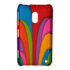 Modern Abstract Colorful Stripes Wallpaper Background Nokia Lumia 620