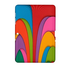 Modern Abstract Colorful Stripes Wallpaper Background Samsung Galaxy Tab 2 (10 1 ) P5100 Hardshell Case