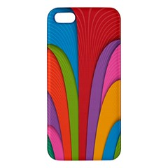 Modern Abstract Colorful Stripes Wallpaper Background iPhone 5S/ SE Premium Hardshell Case