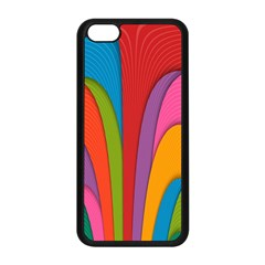 Modern Abstract Colorful Stripes Wallpaper Background Apple Iphone 5c Seamless Case (black)