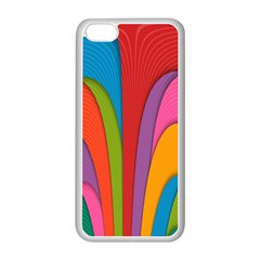 Modern Abstract Colorful Stripes Wallpaper Background Apple iPhone 5C Seamless Case (White)