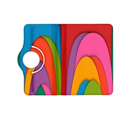 Modern Abstract Colorful Stripes Wallpaper Background Kindle Fire HD (2013) Flip 360 Case