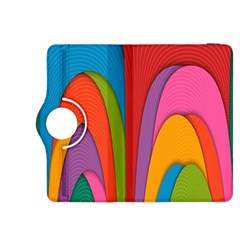 Modern Abstract Colorful Stripes Wallpaper Background Kindle Fire Hdx 8 9  Flip 360 Case