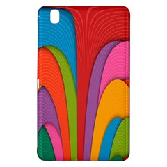 Modern Abstract Colorful Stripes Wallpaper Background Samsung Galaxy Tab Pro 8.4 Hardshell Case