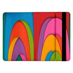 Modern Abstract Colorful Stripes Wallpaper Background Samsung Galaxy Tab Pro 12.2  Flip Case