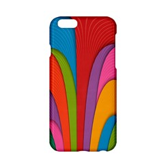 Modern Abstract Colorful Stripes Wallpaper Background Apple Iphone 6/6s Hardshell Case
