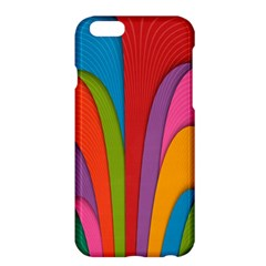 Modern Abstract Colorful Stripes Wallpaper Background Apple Iphone 6 Plus/6s Plus Hardshell Case
