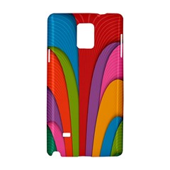 Modern Abstract Colorful Stripes Wallpaper Background Samsung Galaxy Note 4 Hardshell Case