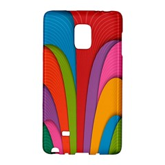 Modern Abstract Colorful Stripes Wallpaper Background Galaxy Note Edge