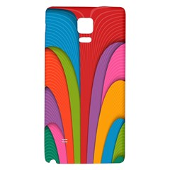 Modern Abstract Colorful Stripes Wallpaper Background Galaxy Note 4 Back Case