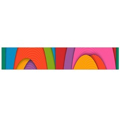 Modern Abstract Colorful Stripes Wallpaper Background Flano Scarf (large)