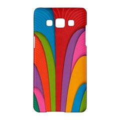 Modern Abstract Colorful Stripes Wallpaper Background Samsung Galaxy A5 Hardshell Case