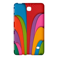 Modern Abstract Colorful Stripes Wallpaper Background Samsung Galaxy Tab 4 (8 ) Hardshell Case