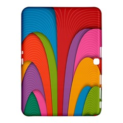 Modern Abstract Colorful Stripes Wallpaper Background Samsung Galaxy Tab 4 (10 1 ) Hardshell Case
