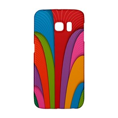 Modern Abstract Colorful Stripes Wallpaper Background Galaxy S6 Edge