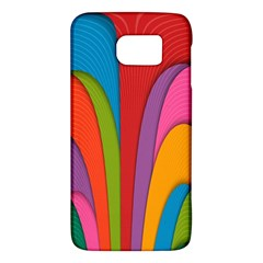Modern Abstract Colorful Stripes Wallpaper Background Galaxy S6