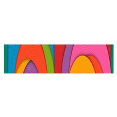 Modern Abstract Colorful Stripes Wallpaper Background Satin Scarf (oblong)