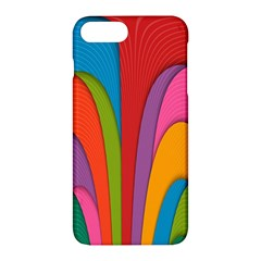 Modern Abstract Colorful Stripes Wallpaper Background Apple Iphone 7 Plus Hardshell Case