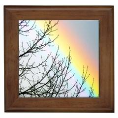 Rainbow Sky Spectrum Rainbow Colors Framed Tiles