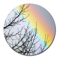 Rainbow Sky Spectrum Rainbow Colors Round Mousepads