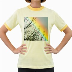 Rainbow Sky Spectrum Rainbow Colors Women s Fitted Ringer T Shirts
