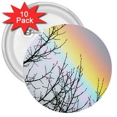 Rainbow Sky Spectrum Rainbow Colors 3  Buttons (10 Pack)