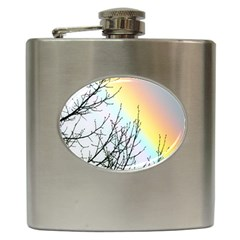 Rainbow Sky Spectrum Rainbow Colors Hip Flask (6 oz)