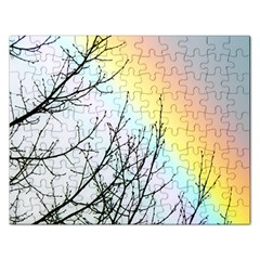Rainbow Sky Spectrum Rainbow Colors Rectangular Jigsaw Puzzl