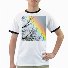 Rainbow Sky Spectrum Rainbow Colors Ringer T Shirts