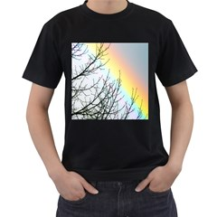 Rainbow Sky Spectrum Rainbow Colors Men s T Shirt (black) (two Sided)