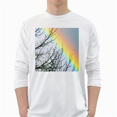 Rainbow Sky Spectrum Rainbow Colors White Long Sleeve T Shirts