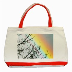Rainbow Sky Spectrum Rainbow Colors Classic Tote Bag (red)