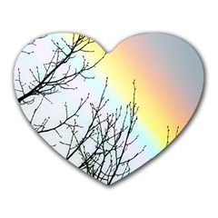 Rainbow Sky Spectrum Rainbow Colors Heart Mousepads