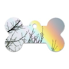 Rainbow Sky Spectrum Rainbow Colors Dog Tag Bone (Two Sides)