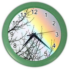 Rainbow Sky Spectrum Rainbow Colors Color Wall Clocks