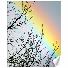Rainbow Sky Spectrum Rainbow Colors Canvas 11  x 14