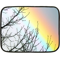 Rainbow Sky Spectrum Rainbow Colors Double Sided Fleece Blanket (mini)