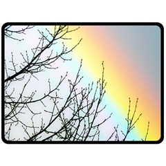 Rainbow Sky Spectrum Rainbow Colors Fleece Blanket (large)