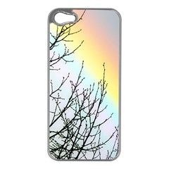 Rainbow Sky Spectrum Rainbow Colors Apple Iphone 5 Case (silver)