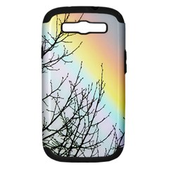 Rainbow Sky Spectrum Rainbow Colors Samsung Galaxy S Iii Hardshell Case (pc+silicone)