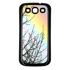 Rainbow Sky Spectrum Rainbow Colors Samsung Galaxy S3 Back Case (black)