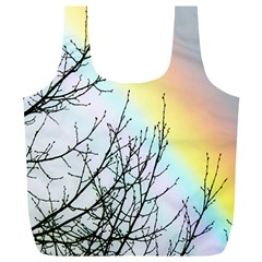 Rainbow Sky Spectrum Rainbow Colors Full Print Recycle Bags (l)
