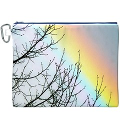 Rainbow Sky Spectrum Rainbow Colors Canvas Cosmetic Bag (XXXL)