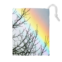 Rainbow Sky Spectrum Rainbow Colors Drawstring Pouches (Extra Large)